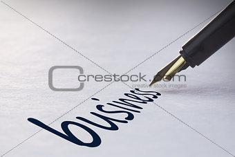 Fountain pen writing Business