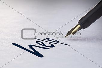 Fountain pen writing Help
