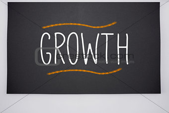 Growth written on big blackboard