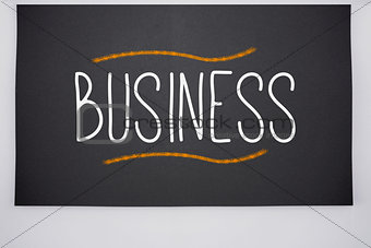 Business written on big blackboard