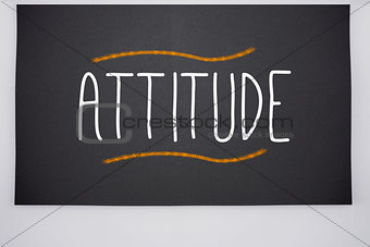 Attitude written on big blackboard