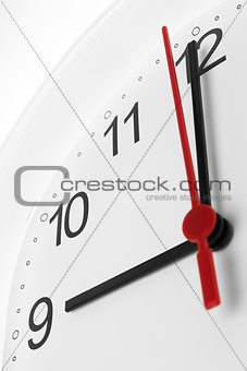 Clock with morning time
