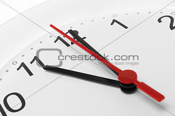 Clock and time running
