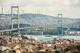 View of Bosphorus suspension bridge in Istanbul