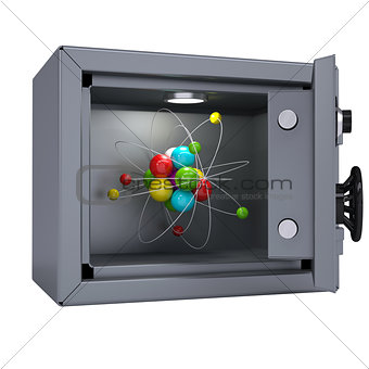 Molecule in an open metal safe