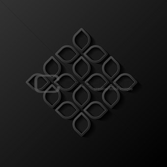 Abstract modern geometric background. Vector illustration.