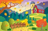 Autumn farm landscape 1