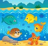 Underwater ocean fauna theme 4