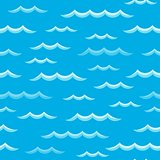 Waves theme seamless background 2