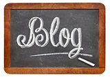blog word on blackboard