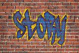 story word as a graffiti