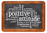 positive attitude concept on blackboard