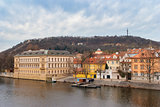 Prague. Vltava. Czech Republic. View from Charles Bridge