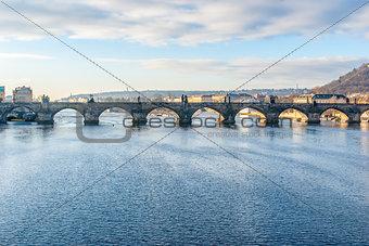 Charles Bridge and the Vltava River, Prague, Czech Republic
