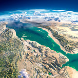 Fragments of the planet Earth. Red Sea