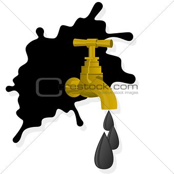 Oil spill and faucet