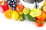 Juicing machine, fresh fruits and vegetables