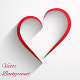 Light Background with beautiful lines of heart. Vector illustration.