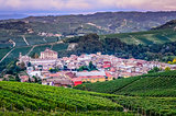 Scenic view of Barolo village in Italy