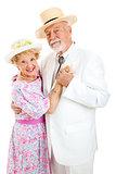 Loving Senior Couple Dancing