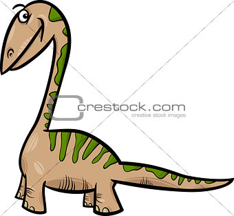 apatosaurus dinosaur cartoon illustration