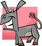 funny donkey cartoon illustration
