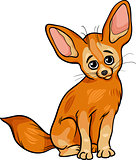 fennec fox animal cartoon illustration