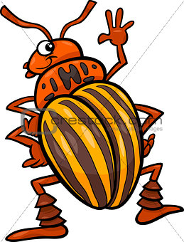 potato beetle insect cartoon illustration
