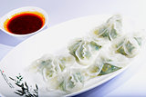 Chinese Food: Colorful steamed dumplings