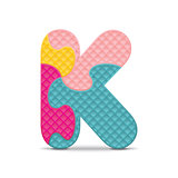 Vector letter K written with alphabet puzzle