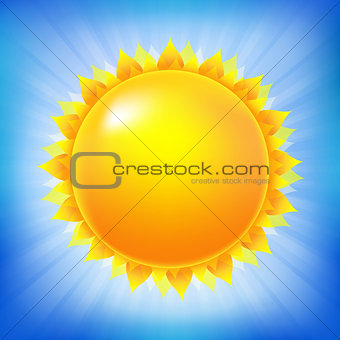 Bright Sun With Blue Sky