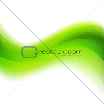 Green Background With Abstract Line And Blur