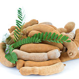 tamarind with leaf