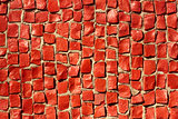 Detail of red mosaic