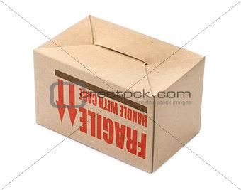 cardboard box upside down