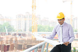 Indian male contractor engineer