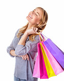 Happy shopper girl