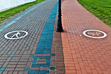 Walking and cycling paths