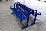 Empty seat on railway platform