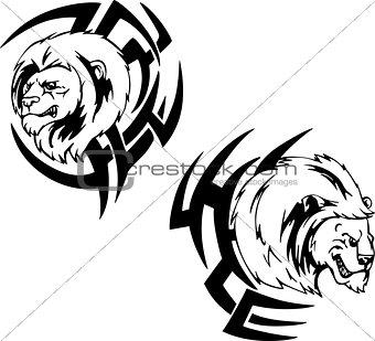 Predator lion head tattoos