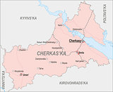 Map of Cherkasy Oblast