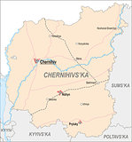 Map of Chernihiv Oblast