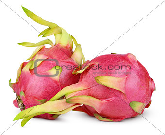 Dragon fruit or pitaya isolated on white