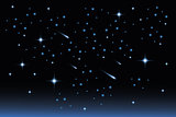 Star night sky - Stock Illustration