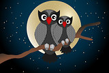 Cartoon owls - Stock illustration