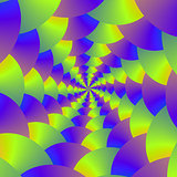 Yellow and Purple Spiral
