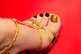 Beautiful luxury pedicure.