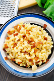 Mac and cheese with bacon