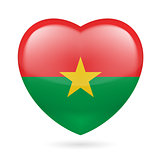 Heart icon of Burkina Faso
