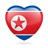 Heart icon of North Korea